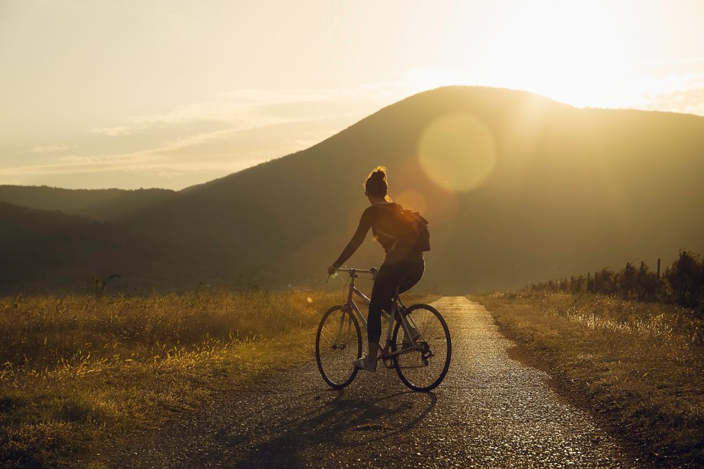 Cycling In Sunset | Depression Treatment & Counseling | Greenville, SC 29615
